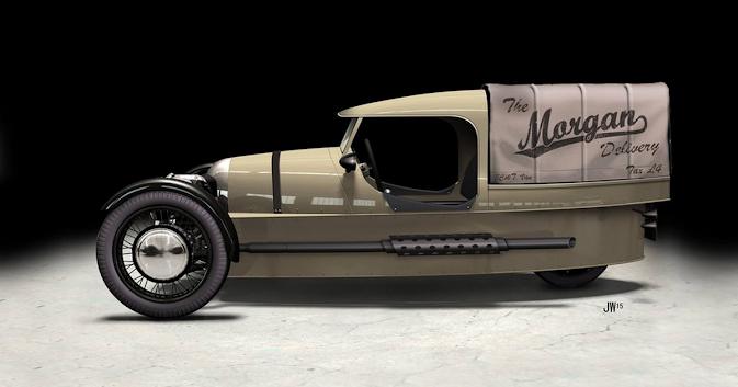Morgan Three Wheeler - Light Delivery Vehicle Concept