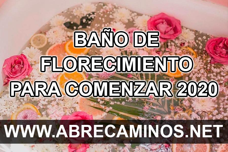 Baño Ritual Florecimiento para 2020 (Atrae la suerte, dinero y amor)