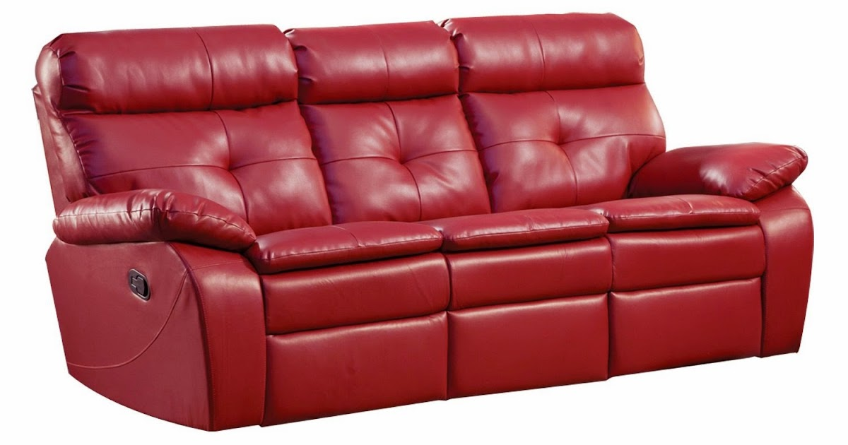 Top Seller Reclining And Recliner Sofa Loveseat Red