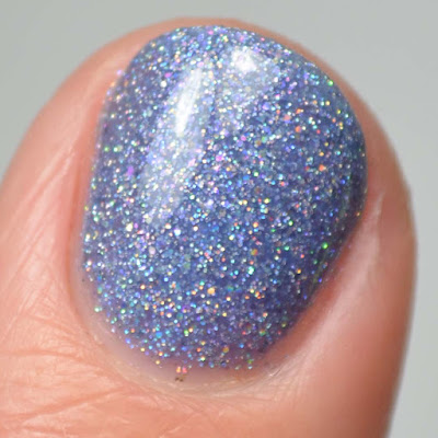 periwinkle holo nail polish close up swatch