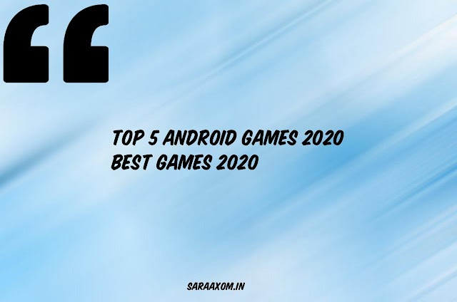 Top 5 android Games 2020 || Best Games 2020