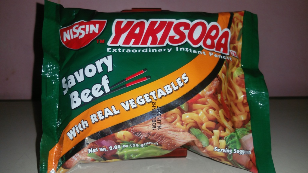 Nissin Yakisoba instant noodles Savory beef ~ Food Raider