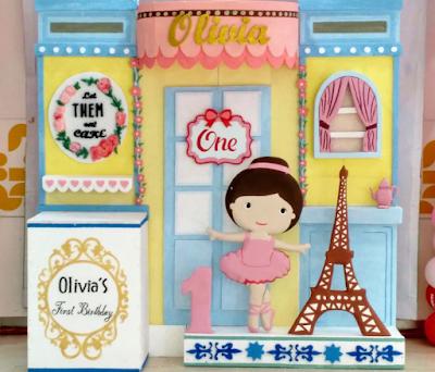 dekorasi styrofoam tema ballerina bogor