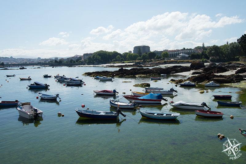 Playas de Alcabre, ideal para ir con los peques
