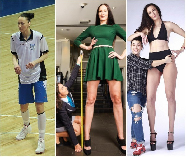 Tall women: Ekaterina Lisina: the woman with the longest legs in the world