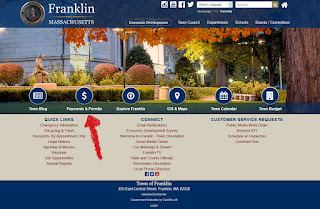 Town of Franklin: Online Payments, Permits and Licensing Center