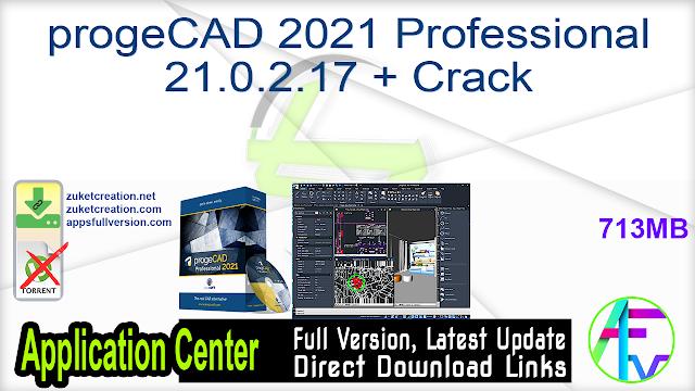 progeCAD 2021 Professional 21.0.2.17 + Crack