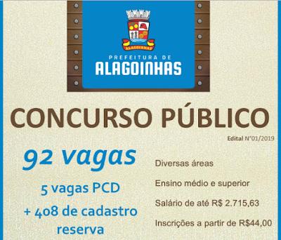 Prefeitura Municipal de Alagoinhas - Concurso 2019