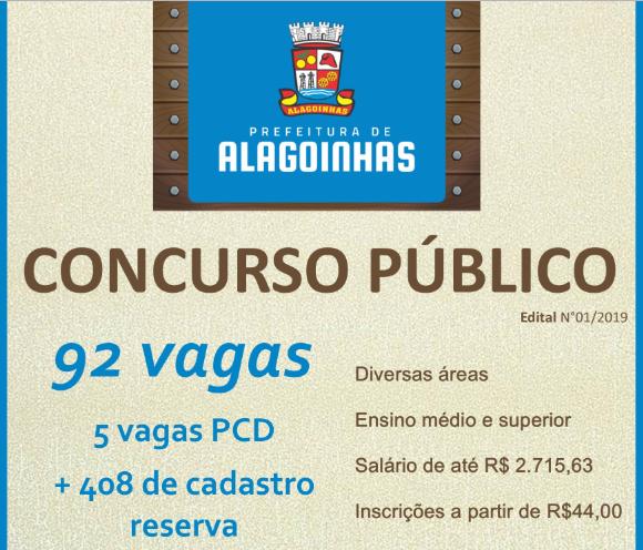 Concurso Prefeitura Municipal de Alagoinhas 2019
