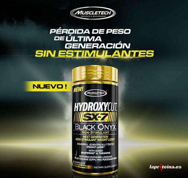 SUPLEMENTOS DEPORTIVOS: HYDROXYCUT SX-7 BLACK ONYX™ NON