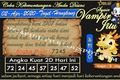 Syair Vampir Jitu Togel Hongkong Kamis 02 April 2020