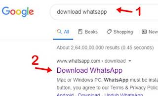Download whatsapp search kar site link par click kare
