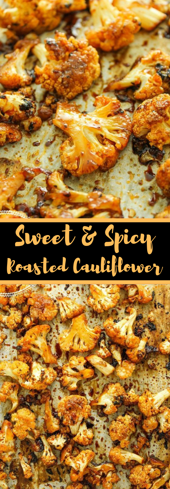 Sweet and Spicy Baked Cauliflower #vegetarian #cauliflower #vegetables #baked #noodle