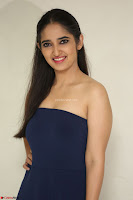 Radhika Mehrotra in sleevless Strap less Blue Gown At Prema Entha Madhuram Priyuraalu Antha Katinam Movie Interview ~  Exclusive 082.JPG