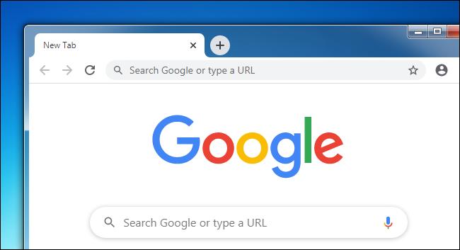 نافذة Google Chrome على سطح مكتب Windows 7.