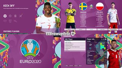 PES 2021 Menu Mod EURO 2020 Star of The Match by PESNewupdate