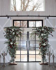 wedding arch with fresh flowers