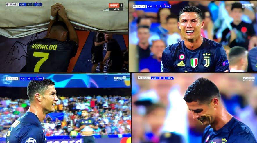Valencia-Juventus: Incredibile espulsione di CR7 Cristiano Ronaldo.