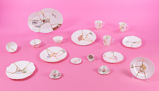Seletti : service de table Kintsugi, design Marcantonio