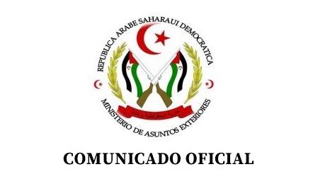 بيان رسمي لوزارة خارجية بالجمهورية العربية الصحراوية الديمقراطية