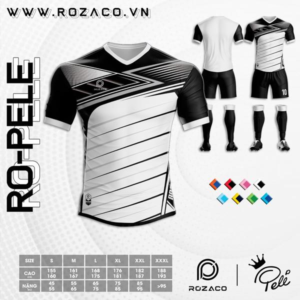 Áo Không Logo Rozaco RO-PELE Màu Trắng