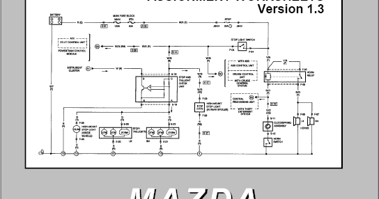 MAZDA ELECTRICAL WIRING DIAGRAM WORKBOOK