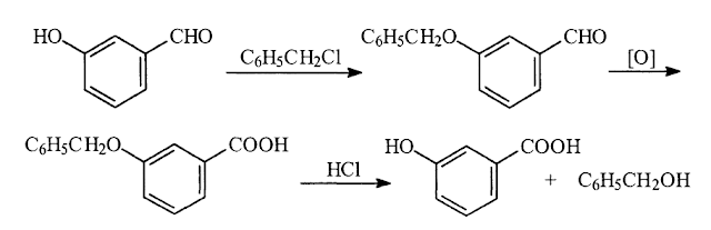 Use of protecting groups in green chemistry reaction