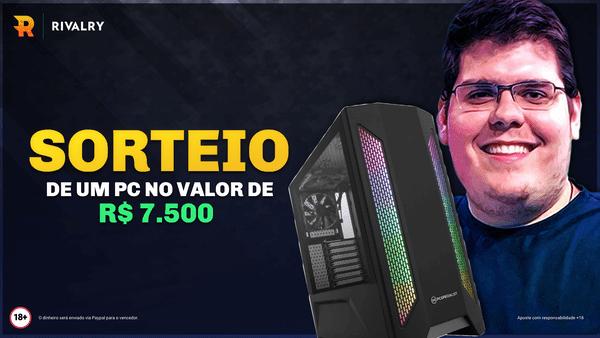 Concorra a um  PC Gamer no valor de R$ 7.500