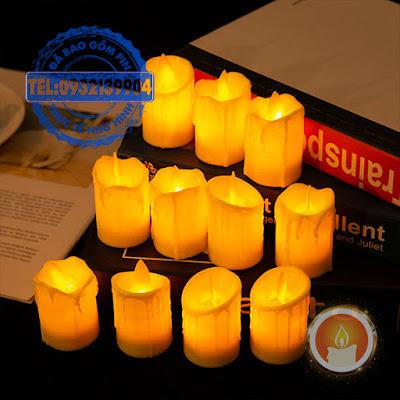 Đèn cầy điện tử mini tim đèn lắc