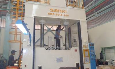 Instalasi Mesin Hydraulic Press