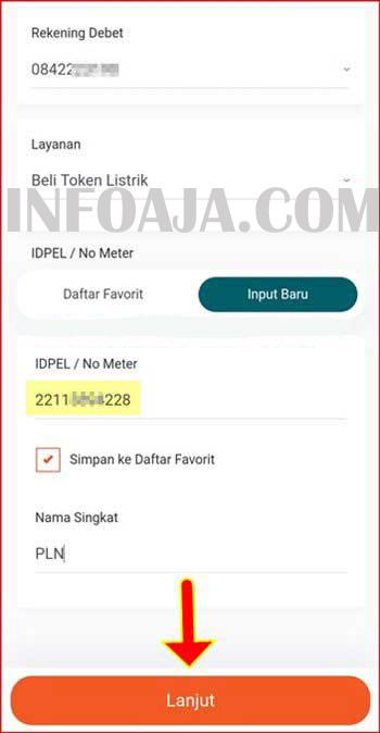 ID pelanggan PLN
