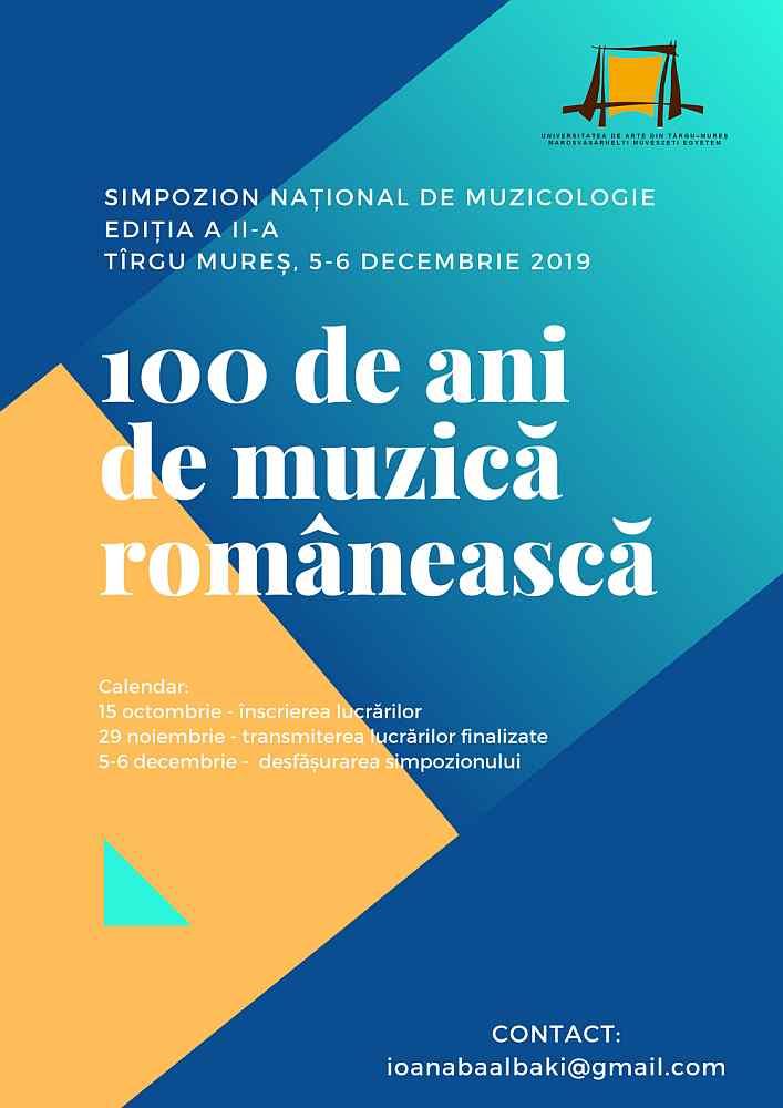 """Simpozionului """"100 de ani de muzică românească"""""""