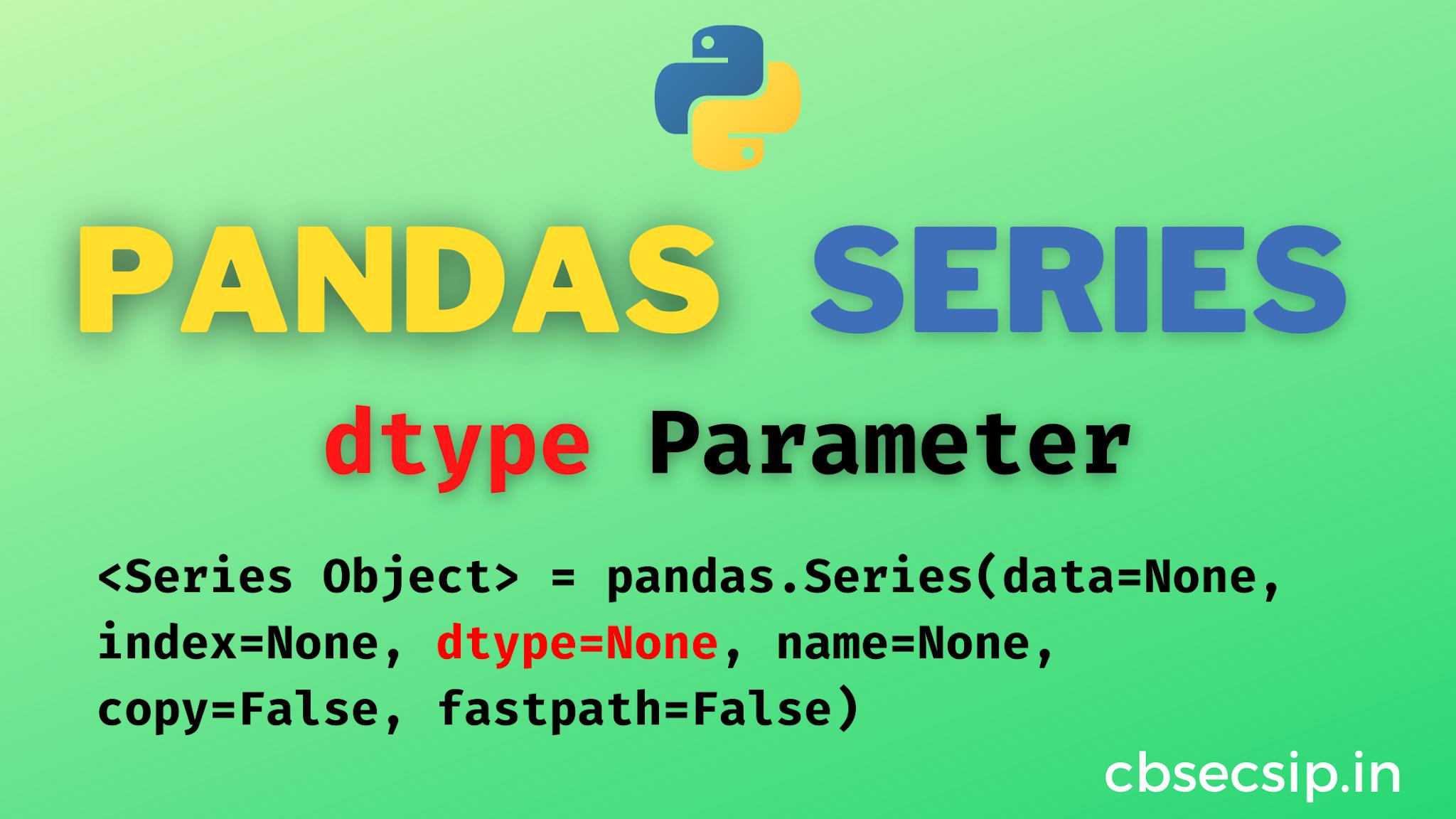 Python Pandas Series dtype
