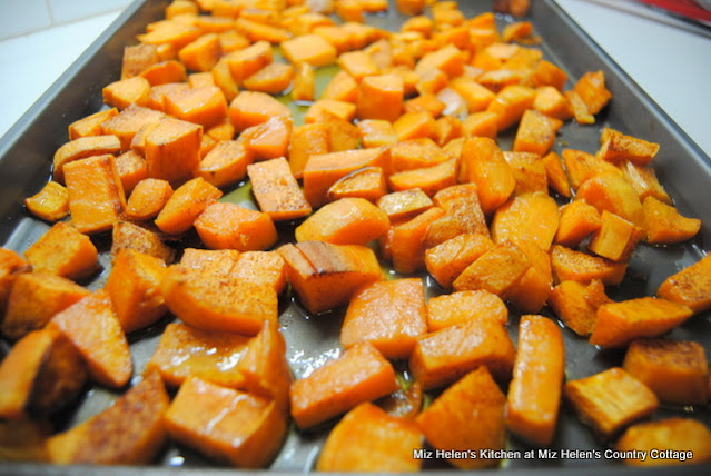 Roasted Spicy Sweet Potatoes at Miz Helen's Country Cottage
