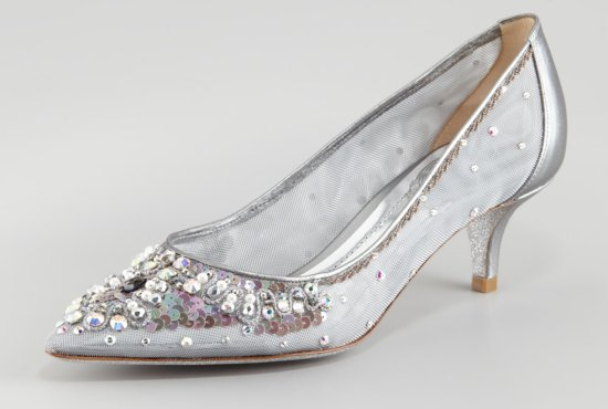 Beautiful Cinderella Bridal Shoes Slippers