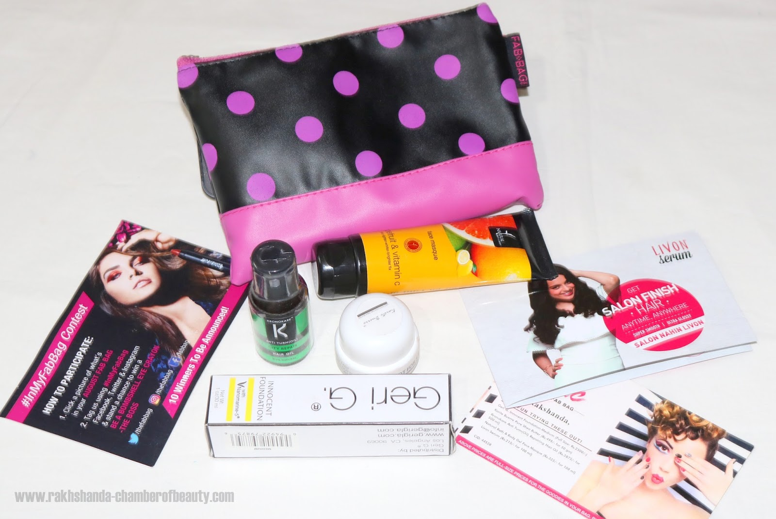 August 2016 Fab Bag review, price details