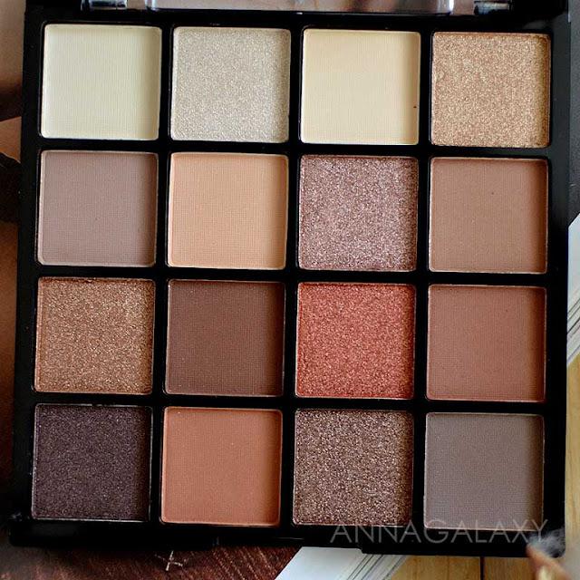 Теплые оттенки Палетка теней для век Lamel Professional Eyeshadow 16 Shades Of Brown