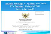 Instruksi Mendagri no 24 tahun 2021 Tunda PTM Terbatas di Wilayah PPKM Level 4 dan Level 3