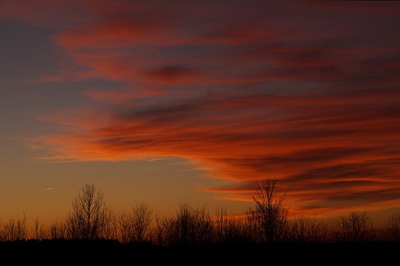 Dramatischer, leuchtender Sonnenuntergang im Januar | Tasteboykott