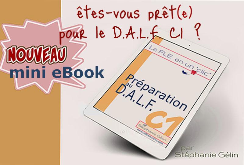 eBook préparation au dalf C1, exercices, le fle en un clic, DALF C1