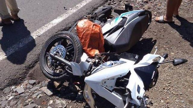 Seorang Pengendara Motor Yamaha Ditemukan Meninggal Dunia Akibat Kecelakaan Tunggal