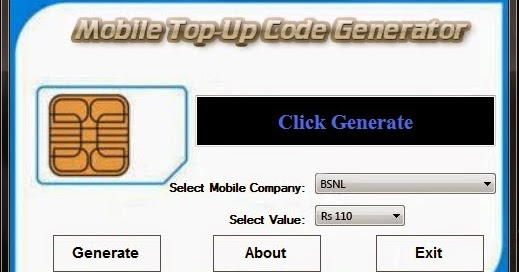 Idea recharge coupon number generator