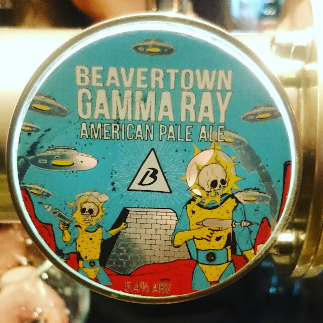 London Craft Beer Review: Gamma Ray from Beavertown real ale pumpclip