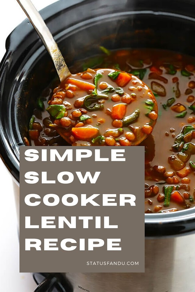 How To Make Simple Slow Cooker Lentil