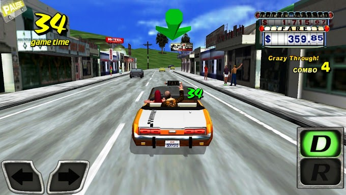 لعبة التاكسي المجنون كريزي تاكسي للأندرويد | Crazy Taxi Free Game for android