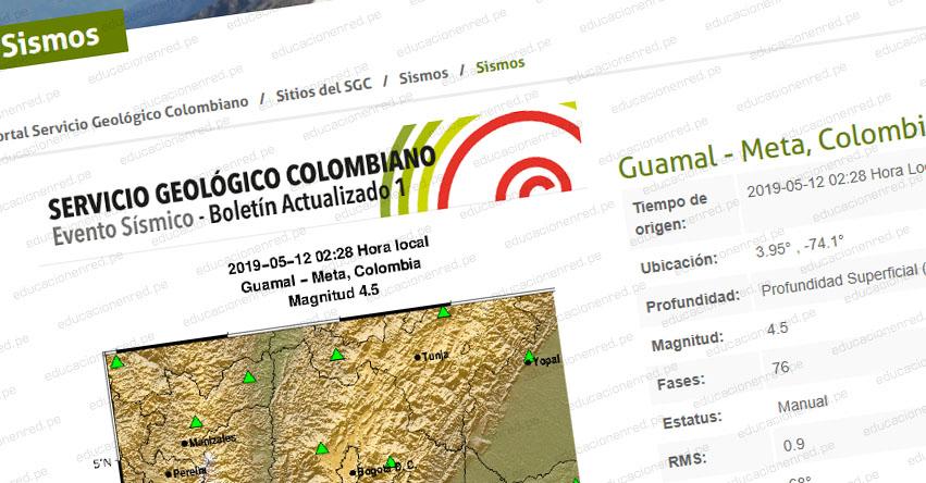 Temblor en Colombia de Magnitud 5.2 (Hoy Domingo 12 Mayo 2019) Sismo - Terremoto - Epicentro - Bogotá - Guamal - En Vivo Twitter - Facebook - www.sgc.gov.co