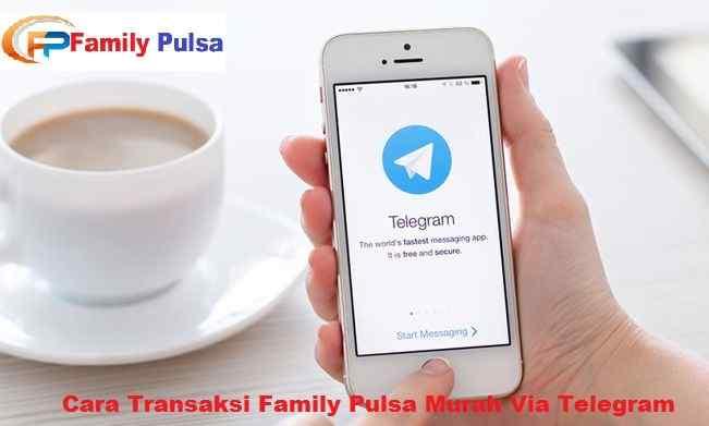 Cara Transaksi Family Pulsa Murah Via Telegram