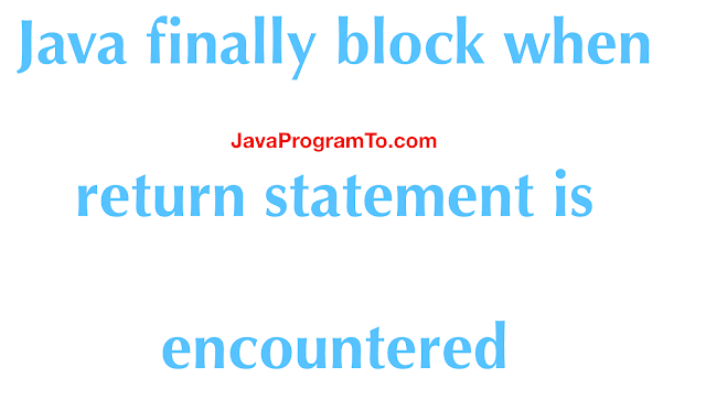 Finally Block: Will a finally block execute after a return statement in a method in Java?