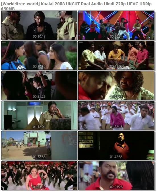 Screen Shoots  of Kaalai 2008 Full Dual Audio Hindi 720p HEVC HDRip 650MB