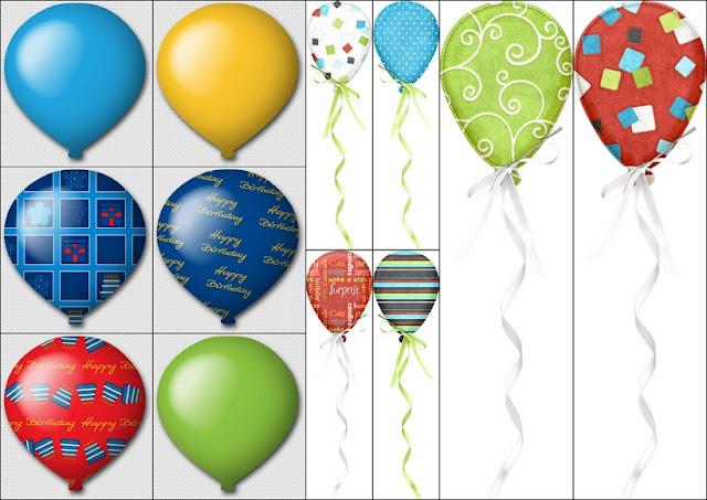 Globos del Clipart Fiesta de Cumpleaños.